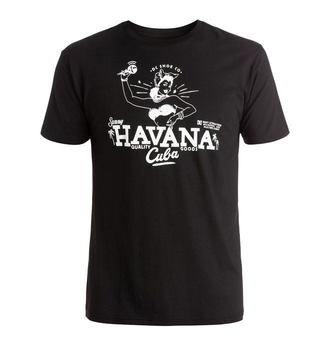 0 Men's Havana Chick Tee  ADYZT03758 DC Shoes