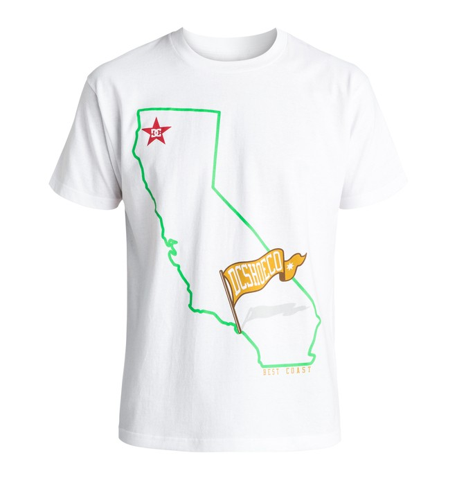 0 Men's Cali Map Tee  ADYZT03881 DC Shoes