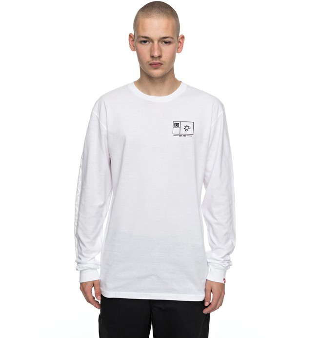 0 Men's Flag Lines Long Sleeve Tee  ADYZT04111 DC Shoes