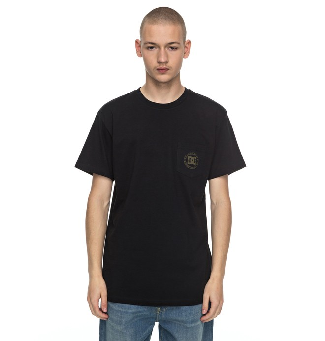 0 Men's Wheel Of Steelo Tee Black ADYZT04125 DC Shoes