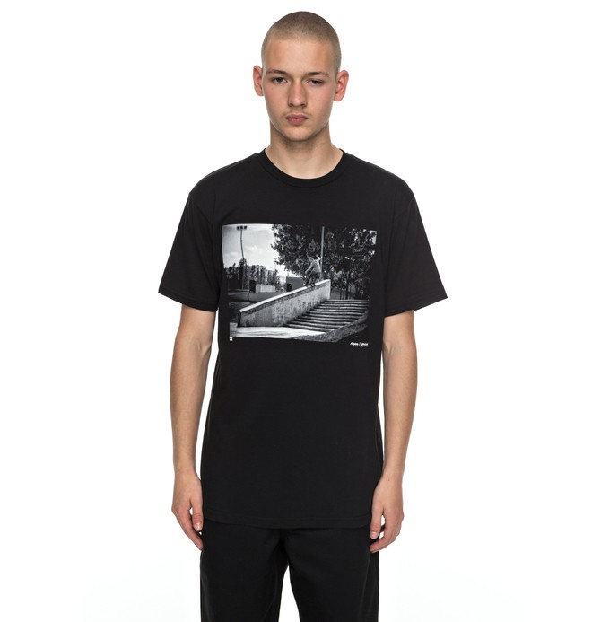 0 Men's Madars Front Board Tee Black ADYZT04134 DC Shoes