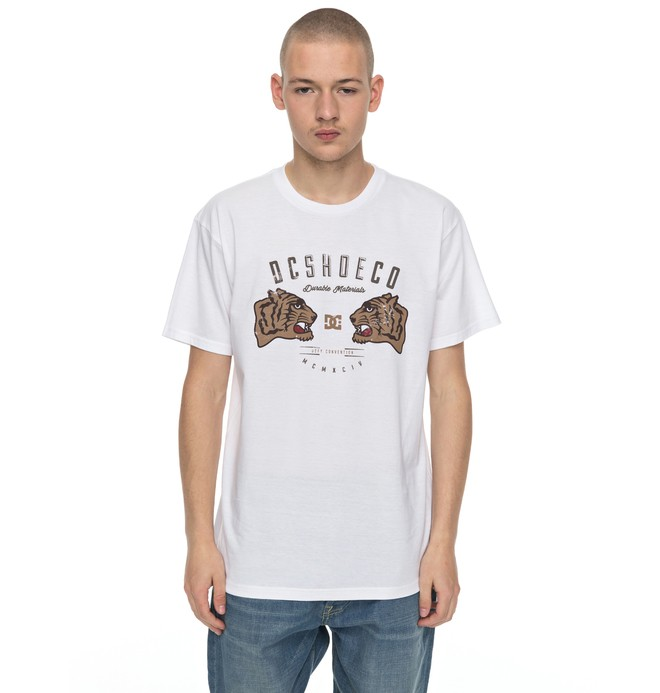 0 Men's Surrender Never Tee White ADYZT04136 DC Shoes