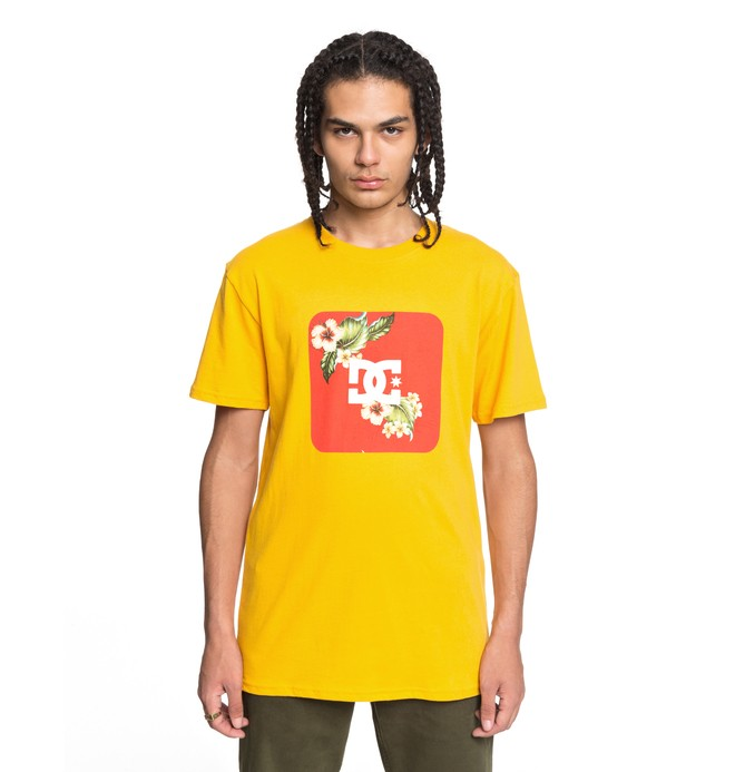 0 Men's Shuffle Face Tee Yellow ADYZT04215 DC Shoes