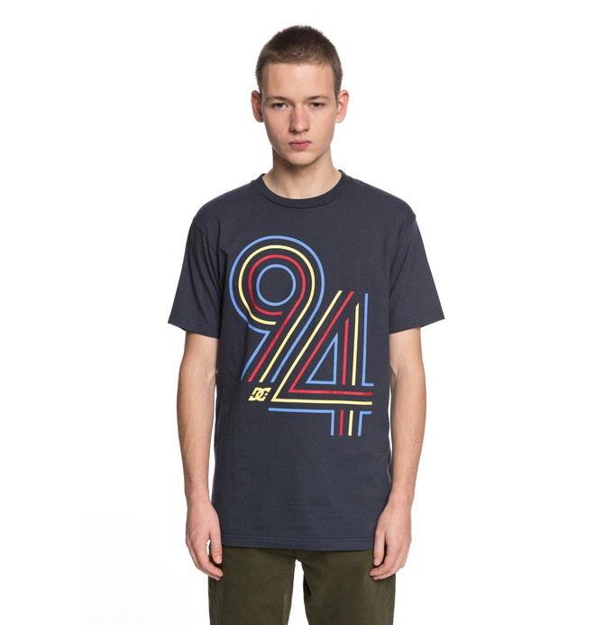 0 Men's Cycle Lines Tee Blue ADYZT04219 DC Shoes