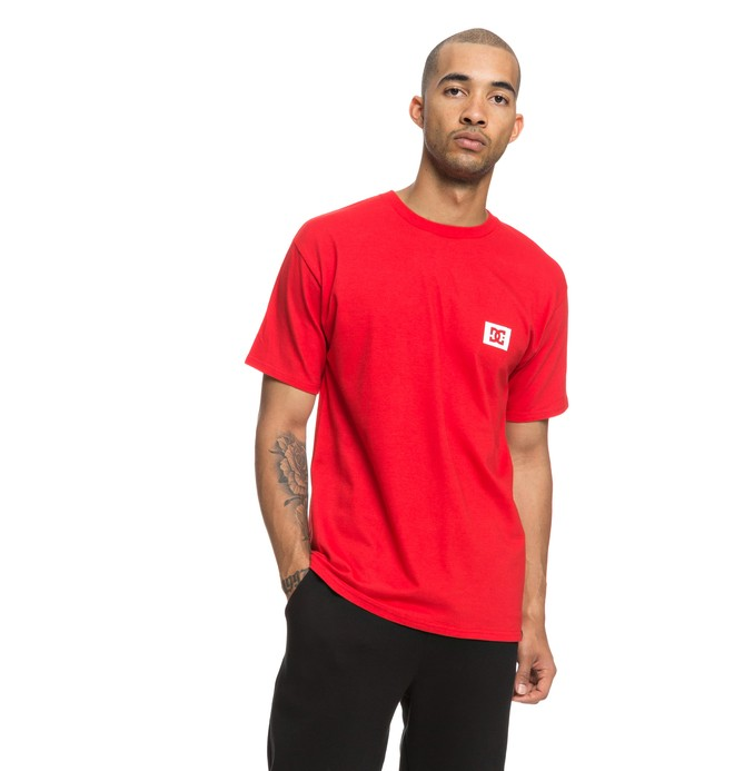 0 Men's Stage Box Tee Red ADYZT04245 DC Shoes