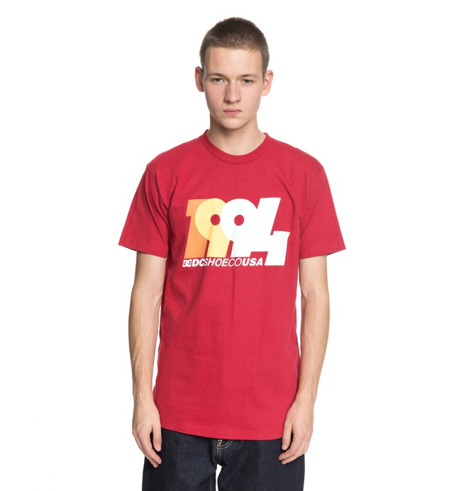 0 Men's Graduate 94 Tee Red ADYZT04252 DC Shoes