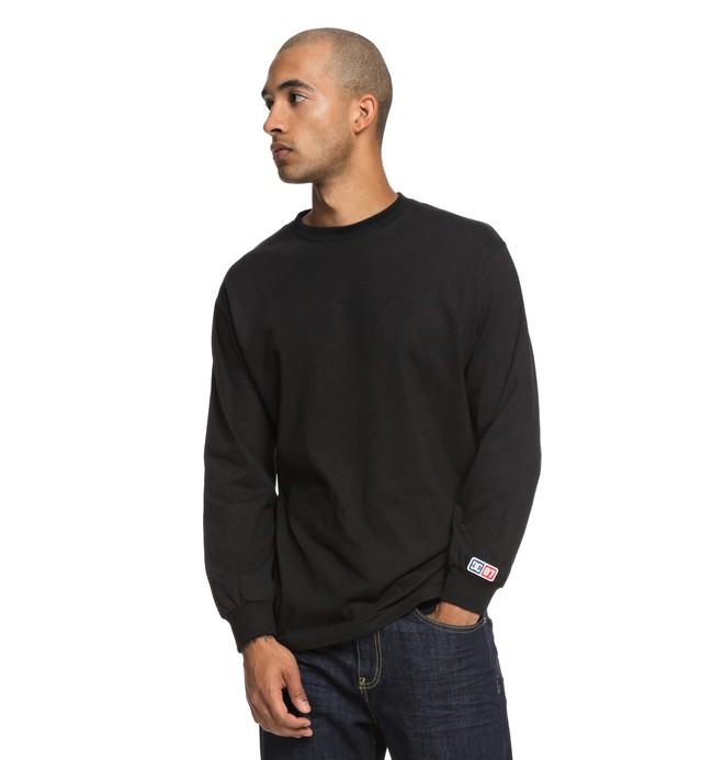 0 Hombres Camiseta Manga Larga Shield Negro ADYZT04357 DC Shoes