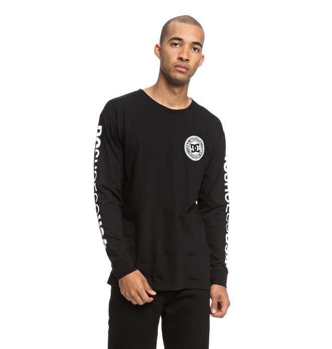 0 Men's Circle Star Long Sleeve Tee Black ADYZT04369 DC Shoes