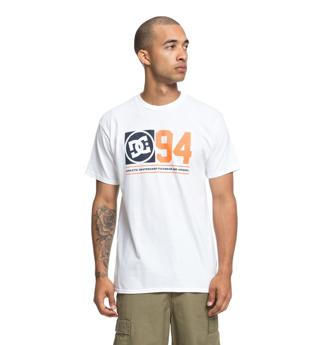 0 Player Seven Tee White ADYZT04370 DC Shoes