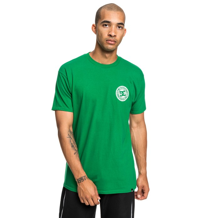 0 Circle Star Tee Green ADYZT04377 DC Shoes
