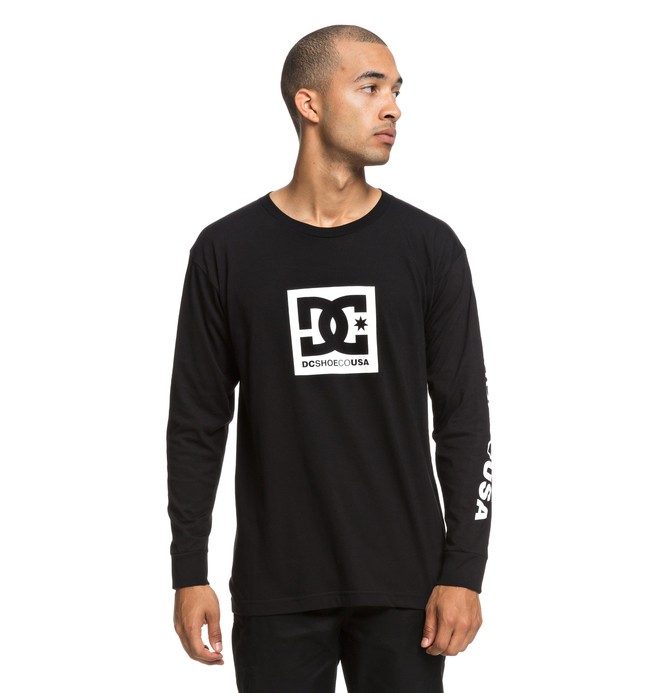 0 SQUARE STAR LS Black ADYZT04383 DC Shoes