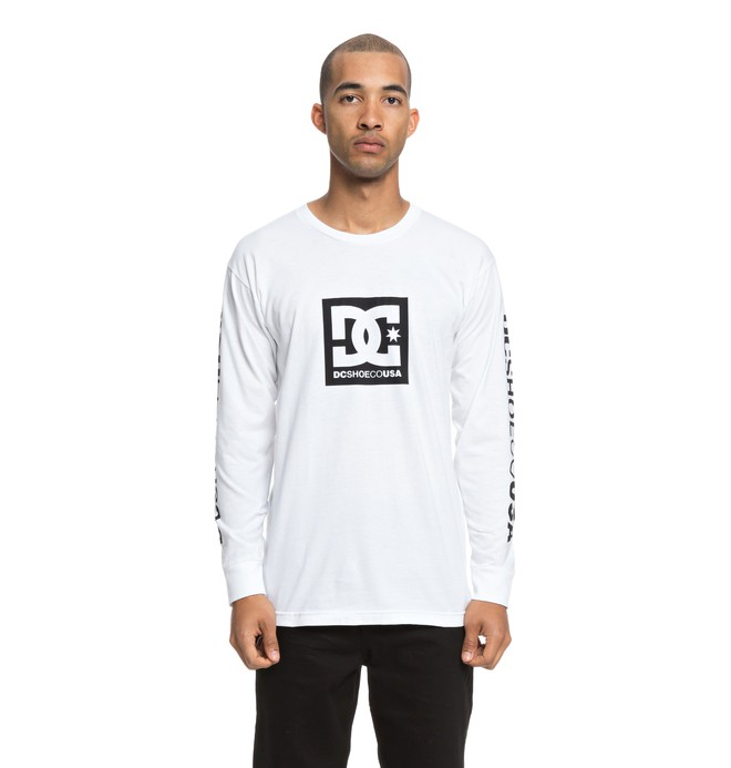 0 SQUARE STAR LS White ADYZT04383 DC Shoes