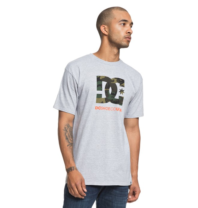 0 Camo Filling Star Tee Black ADYZT04385 DC Shoes