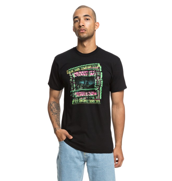 0 Slauson Tee Black ADYZT04393 DC Shoes