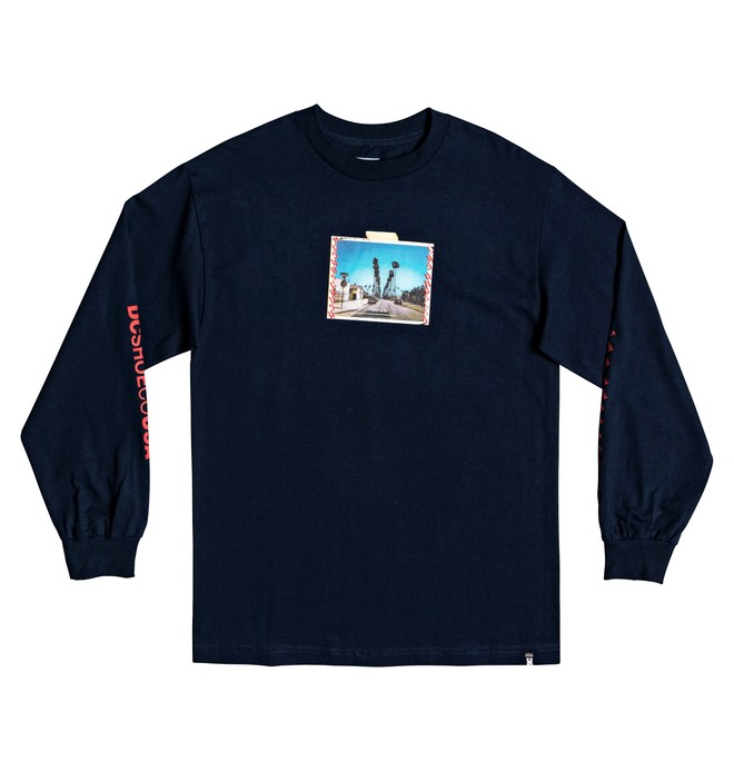 0 DCLA Long Sleeve Tee Blue ADYZT04395 DC Shoes