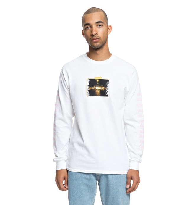 0 DClondon Long Sleeve Tee White ADYZT04396 DC Shoes