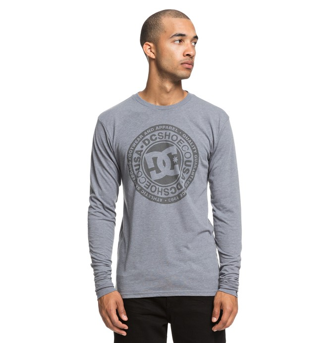 0 Men's Splitted Long Sleeve Tee Grey ADYZT04428 DC Shoes