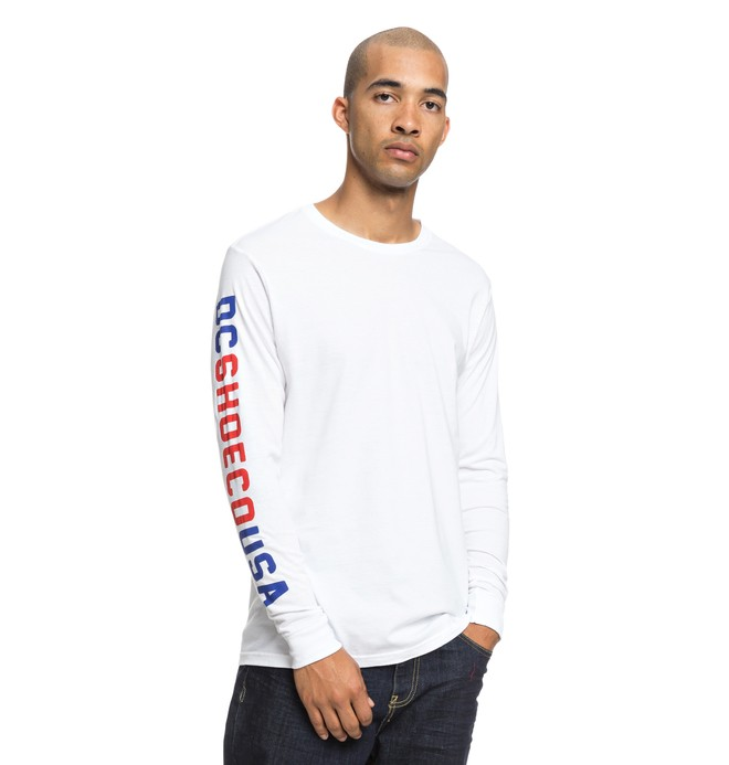 0 Budge Long Sleeve Tee White ADYZT04444 DC Shoes