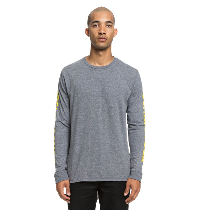0 Wordarm Long Sleeve Tee Grey ADYZT04460 DC Shoes