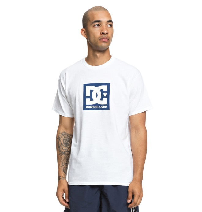 0 Square Star Tee White ADYZT04464 DC Shoes