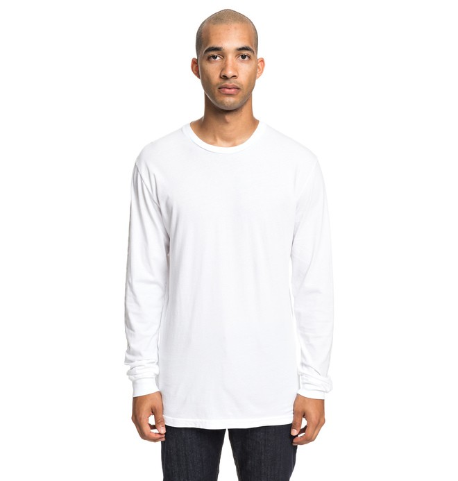 0 Top To Bottom Long Sleeve Tee White ADYZT04504 DC Shoes