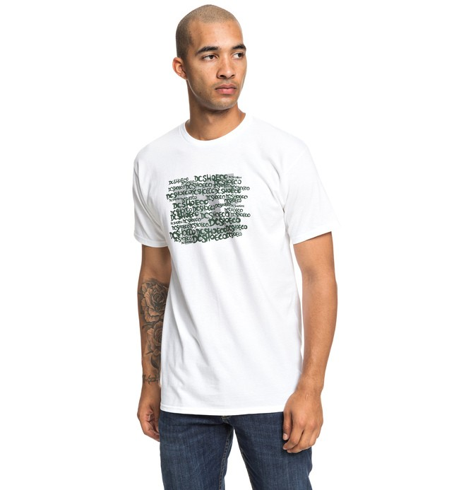 0 Spread Tee White ADYZT04513 DC Shoes
