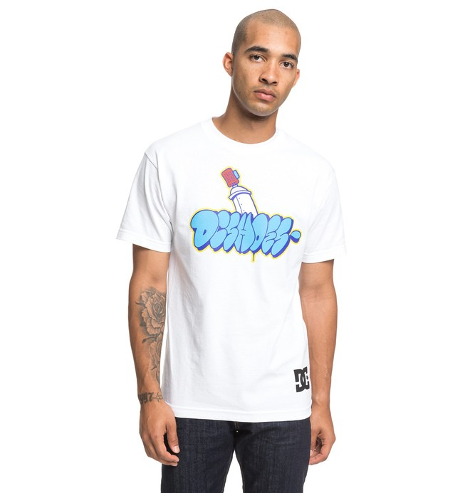 0 Throwy Tee White ADYZT04529 DC Shoes