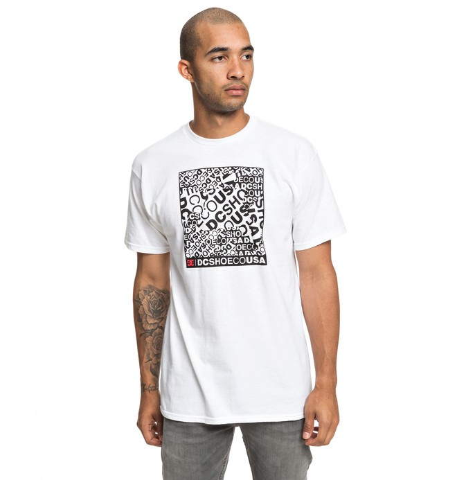 0 Cover Up Tee White ADYZT04531 DC Shoes