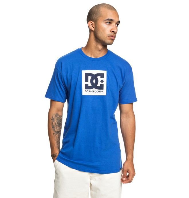 0 Square Star Tee Blue ADYZT04533 DC Shoes