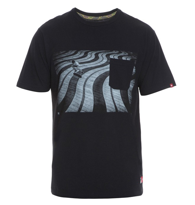 0 Camiseta Masculina Manga Curta Estampada DC Shoes Preto BR61142781 DC Shoes