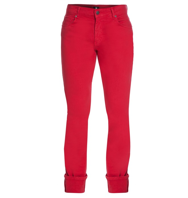 0 Calça Jeans Worker Slim Vermelho BR63331527 DC Shoes
