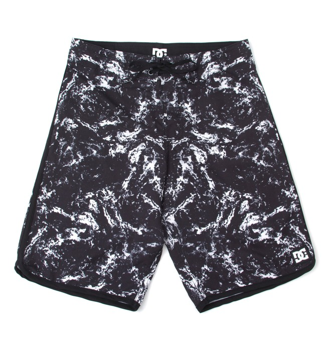0 Boardshort Juvenil Estampado DC Shoes Preto BR67011382 DC Shoes