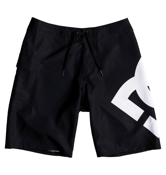"0 Boy's 8-16 Lanai 17"" Boardshorts Black EDBBS03029 DC Shoes"