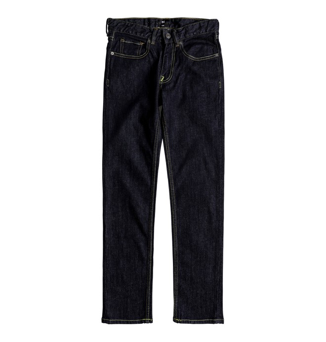 0 Kid's Worker Indigo Rinse Slim Slim Fit Jeans  EDBDP03036 DC Shoes