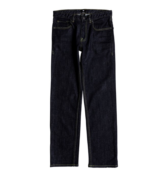 0 Kid's Worker Indigo Rinse Straight Straight Fit Jeans  EDBDP03038 DC Shoes
