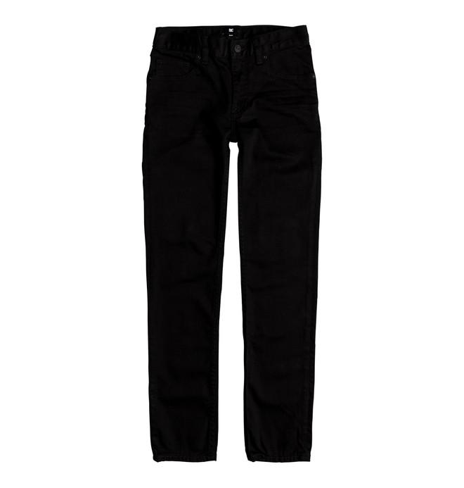 0 Worker Black Rinse - Jean slim pour Garçon 8-16 ans  EDBDP03041 DC Shoes