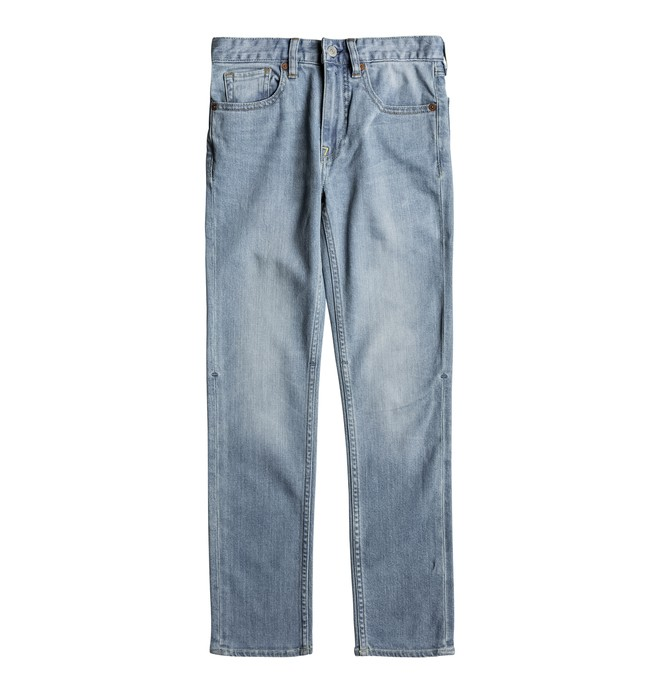 0 Worker Light Indigo Bleach Slim - Jean slim Bleu EDBDP03043 DC Shoes