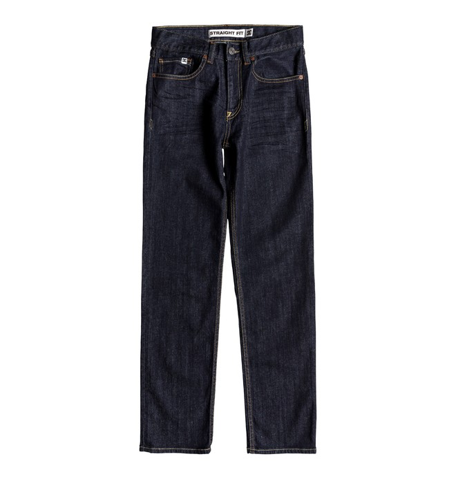 0 Boy's 8-16 Worker Indigo Rinse Straight Fit Jeans  EDBDP03050 DC Shoes