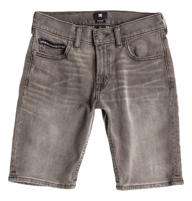 0 Worker Straight Denim Shorts Grey Boy  EDBDS03000 DC Shoes
