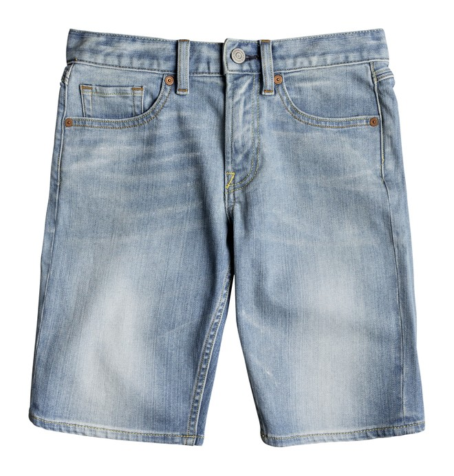 0 Boy's 8-16 Worker Light Indigo Blue Denim Shorts Blue EDBDS03014 DC Shoes