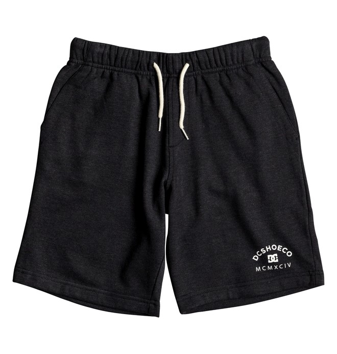 0 Rebel - Sweat Shorts for Boys 8-16 Black EDBFB03013 DC Shoes