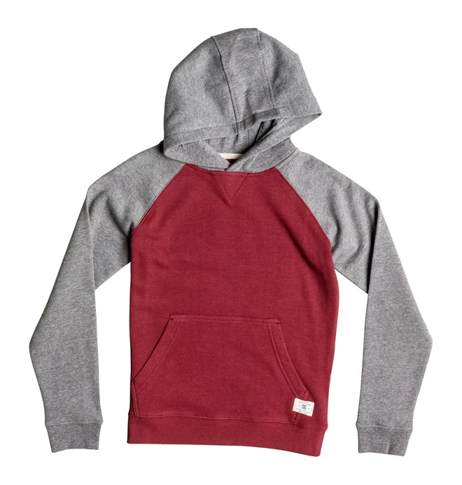 0 Kid's Rebel Raglan Hoodie  EDBFT03053 DC Shoes