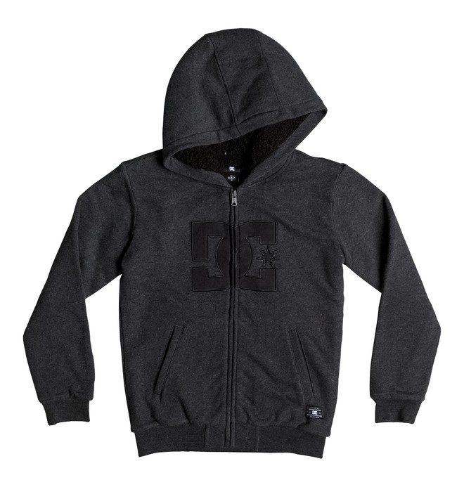 0 Boy's 8-16 Star Sherpa Zip Up Hoodie  EDBFT03093 DC Shoes