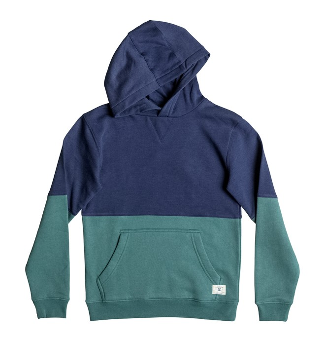 0 Boy's 8-16 Rebel Block Hoodie  EDBFT03096 DC Shoes