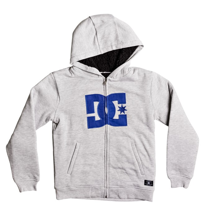 0 Star Sherpa - Sherpa Zip-Up Hoodie for Boys 8-16  EDBFT03117 DC Shoes