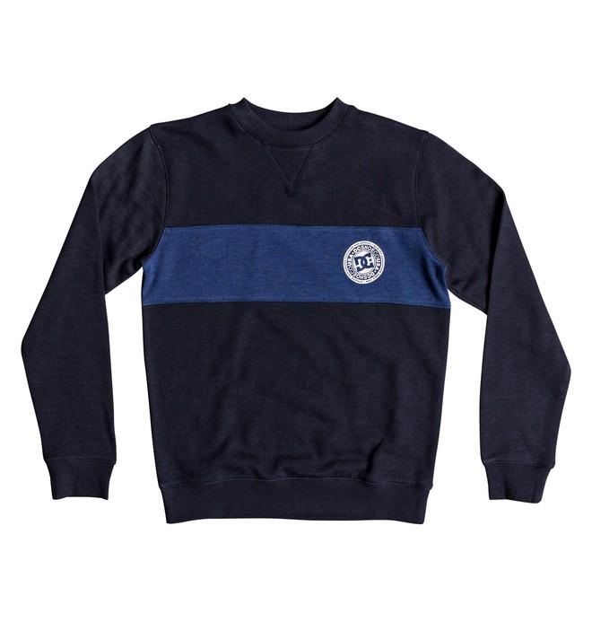 0 Rebel Block - Sweatshirt for Boys 8-16 Blue EDBFT03135 DC Shoes