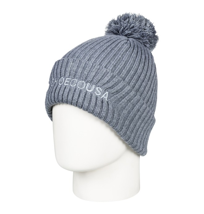 0 Boy's 8-16 Trilogy 2 Pom-Pom Beanie Grey EDBHA03024 DC Shoes