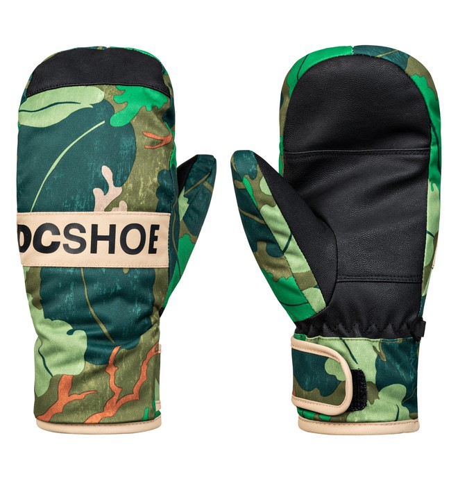 0 Boy's 8-16 Franchise Snowboard/Ski Mittens Green EDBHN03007 DC Shoes