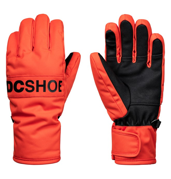 0 Boy's 8-16 Franchise Snowboard/Ski Gloves Orange EDBHN03008 DC Shoes
