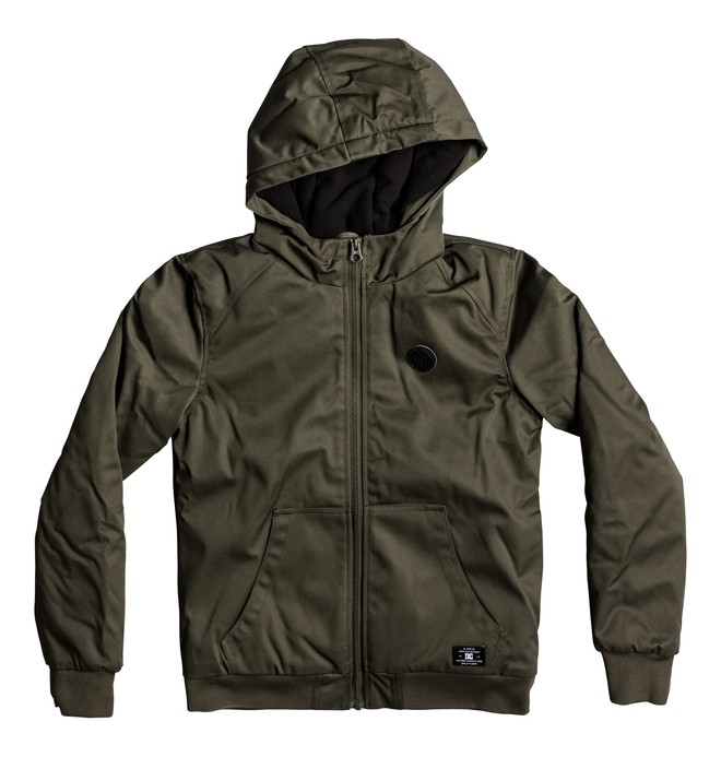 0 Ellis - Hooded Water-Resistant Jacket for Boys 8-16 Brown EDBJK03022 DC Shoes